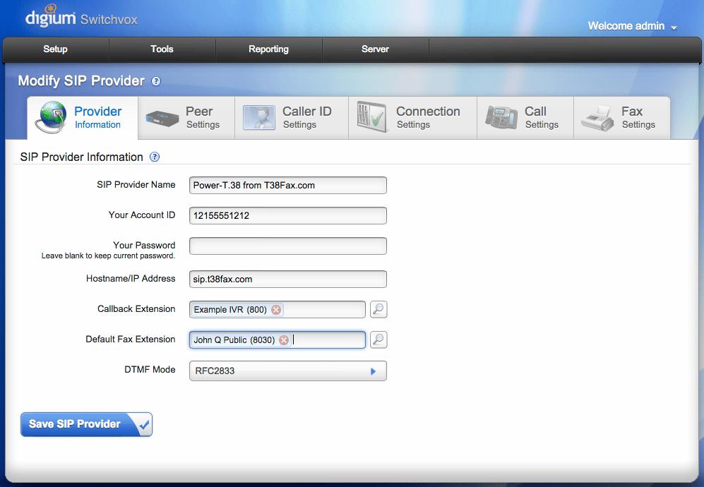 Create SIP Provider