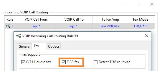 Configure Incoming Call Routing for Fax Voip Software - T38Fax.com
