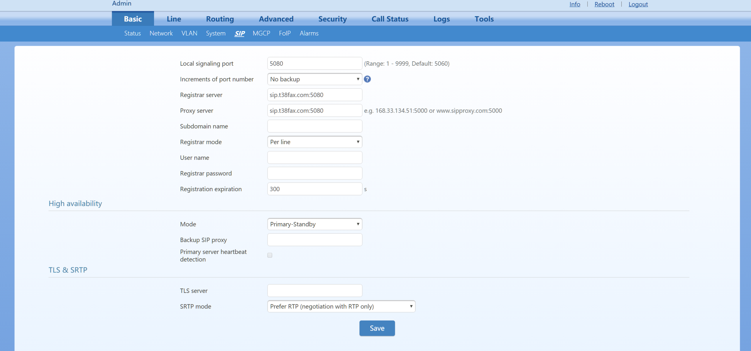 Netgen Basic SIP Configuration